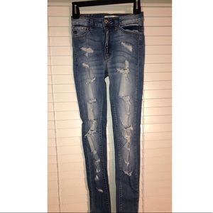KanCan Denim Distressed Jeans Size 1, Size 24